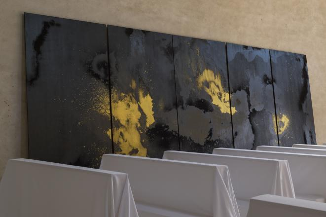 Dominique Blais « Messe grise », 2019 – Le Carré, Scène nationale – Centre d'art contemporain d'intérêt national / Château-Gontier sur Mayenne. © Marc Domage