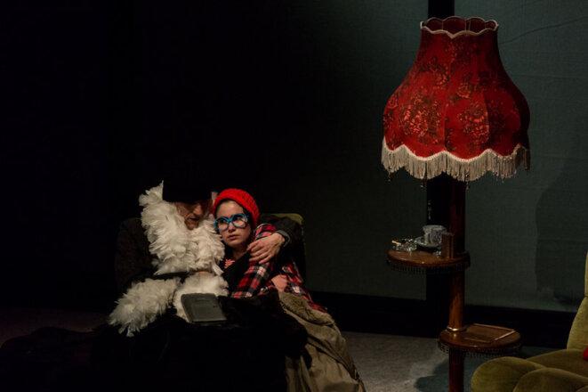 """""""La petite fille qui disait non"""", texte et mise en scène de Carole Thibaut. Spectacle créé le 18 janvier 2018 au Théâtre des Ilets - Centre dramatique national de Montluçon © Thierry Laporte"""