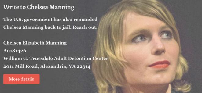 Pour écrire à Chelsea Manning