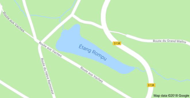 Etang rompu - D138 © Google Maps