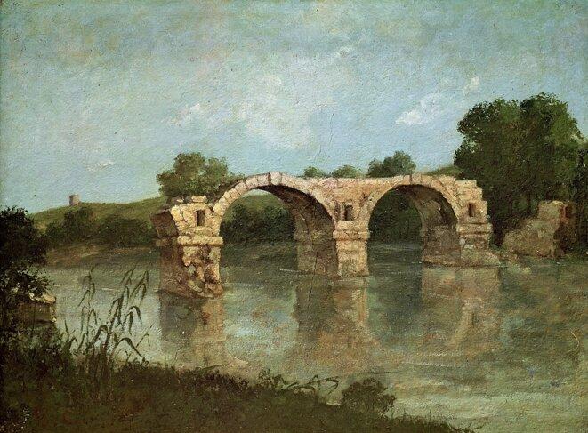 Gustave Courbet, Le pont d'Ambrussum 1857