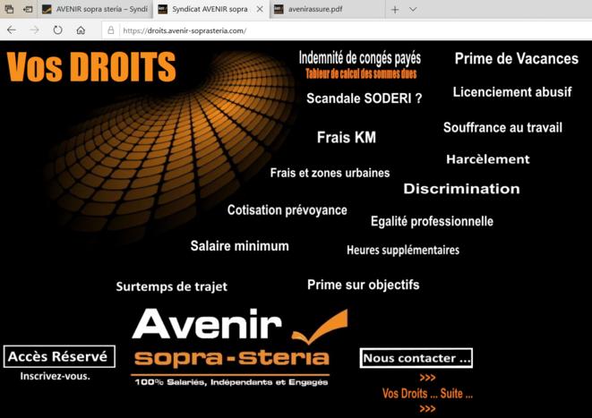droits des salariés sopra steria © syndicat AVENIR