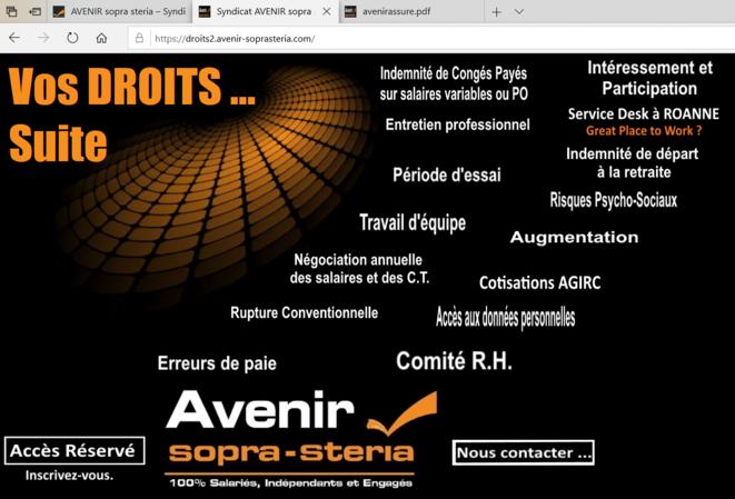 droits des salariés sopra steria - Suite © syndicat AVENIR