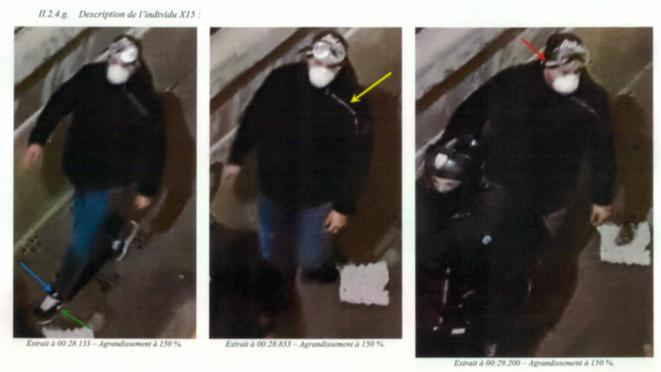 Photo d'identification d'un des policiers mis en cause dans les violences commises à l'encontre de Maria, le 8 décembre, Marseille. © IGPN