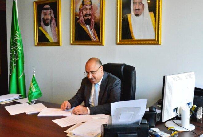 S. Exc. Monsieur Ibrahim ALBALAWI, Ambassadeur, Délégué Permanent du Royaume d'Arabie Saoudite auprès de l'Organisation des Nations Unies (UNESCO), à son bureau