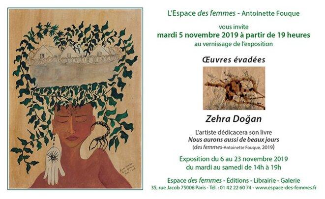 Exposition « œuvres évadées » de Zehra Dogan