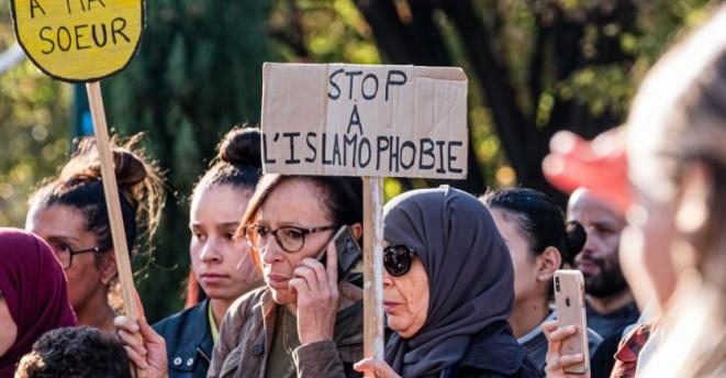 Manifestation contre l'islamophobie à Lyon le 26 octobre 2019 © Sipa Press