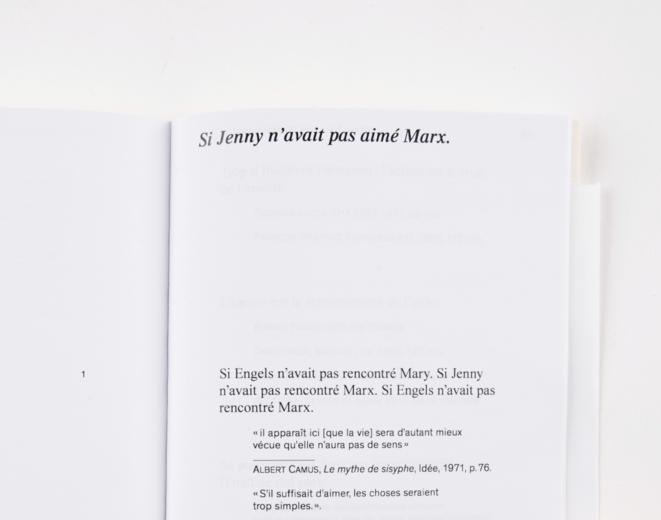 Détail de l'édition papier du mémoire © CC Mélio Lannuzel