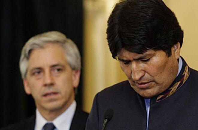 Evo Morales et Alvaro Garcia Linera