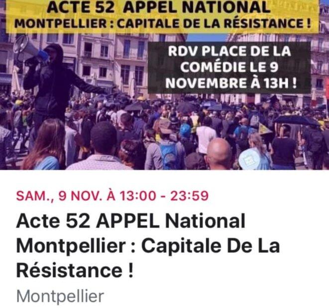 © Gilets Jaunes Montpellier