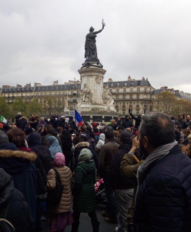 Manifestation contre l'islamophobie, Paris 10 novembre 2019