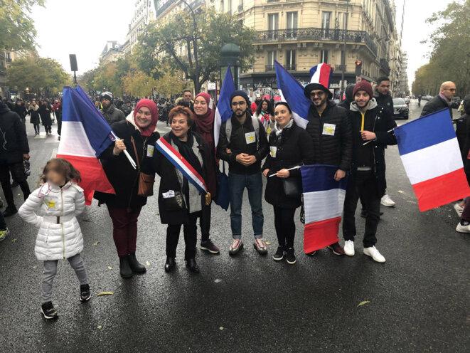 Jean-Christophe Attias, Esther Benbassa à la manifestation contre l'islamophobie, 10/11/2019.