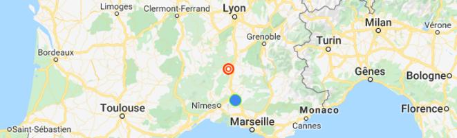 Carte © Google maps