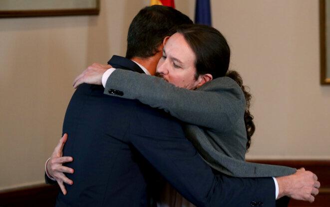Pedro Sánchez et Pablo Iglesias, le 12 novembre 2019 © Reuters