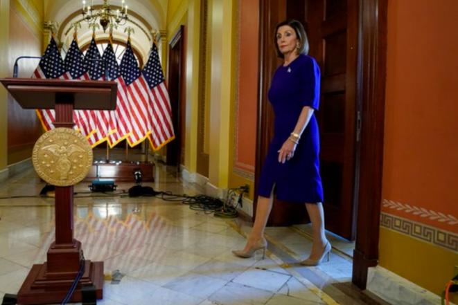 Nancy Pelosi à la Chambre des représentants, le 24 septembre 2019. © Reuters