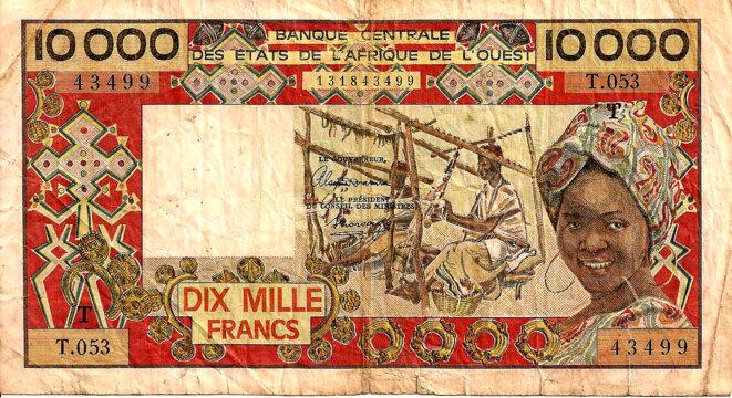 Monnaie Coloniale IV° République Bceao 10.000 Francs CFA