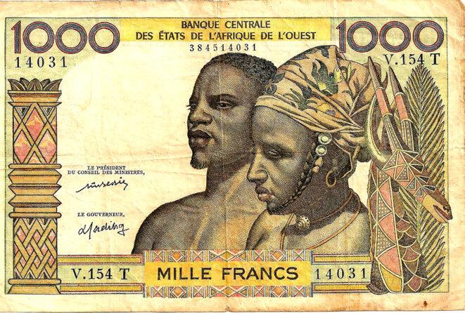 Monnaie Coloniale IV° République Bceao 1000 Francs CFA