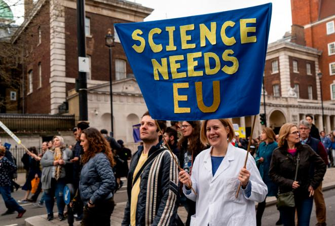 Voisins en toute amitié : les scientifiques du Royaume-Uni ont besoin de l'Union Européenne pour le personnel, les équipements et le partage de données. © Niklas Halle'n / Getty Images