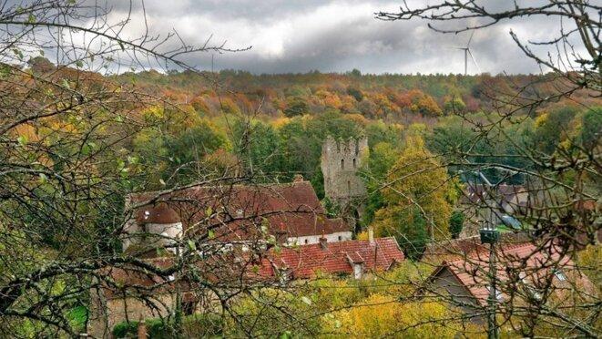 les ruines de l'abbaye bénédictine © Thierry Nava