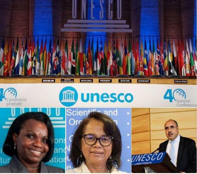 Photo de groupe - UNESCO- 40e session de la Conférence générale – Table ronde -Patrimoine et diplomatie à travers la sauvegarde et la promotion des jeux et sports traditionnels africains
