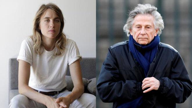 Adèle Haenel et Roman Polanski. © Mediapart/Reuters