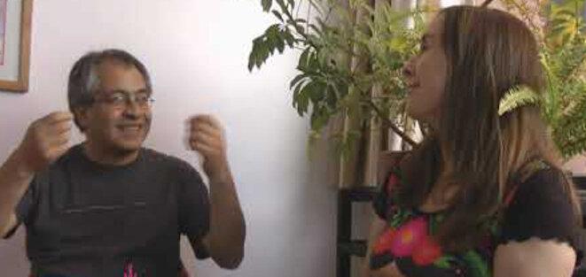 Miriam Lang et Mario Rodríguez en entretien © Miriam Lang