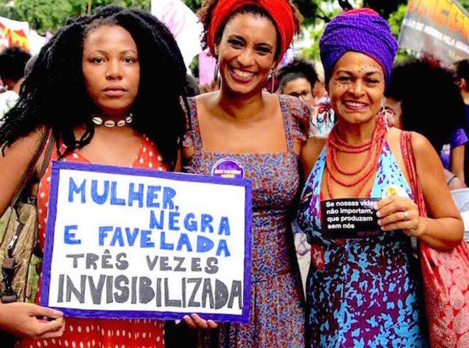 Marielle Franco y compañeras, Brasil
