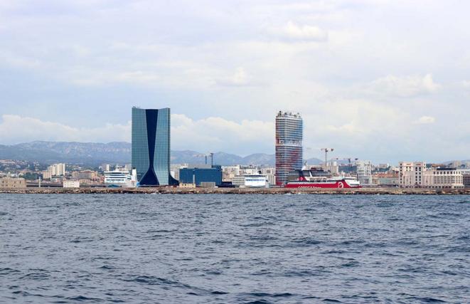 Le site du futur lycée international de Marseille. © La Marseillaise - Jean Nouvel / Michele Clavel