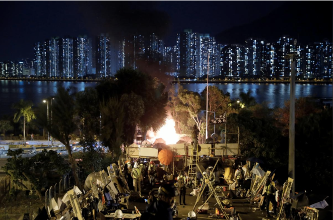 15 novembre 2019, près de l'université de Hong Kong. © Reuters