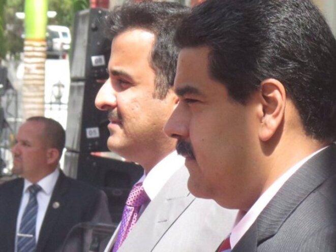 Nicolas Maduro en voyage chez l'émir du Qatar