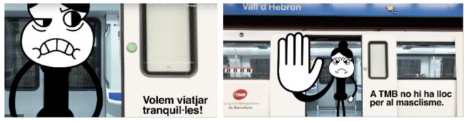 Images de la campagne de Transport Metropolità de Barcelona diffusée en 2019. © TMB Transports metropolitans de Barcelona