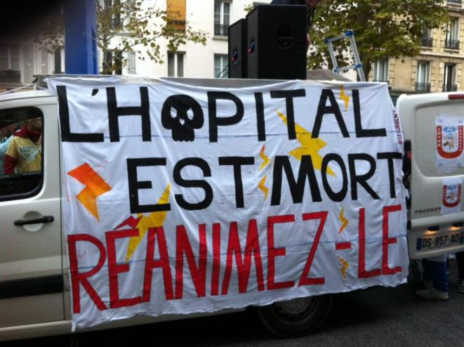 Mort de l'Hôpital - manifestation de Paris 14 novembre 2019