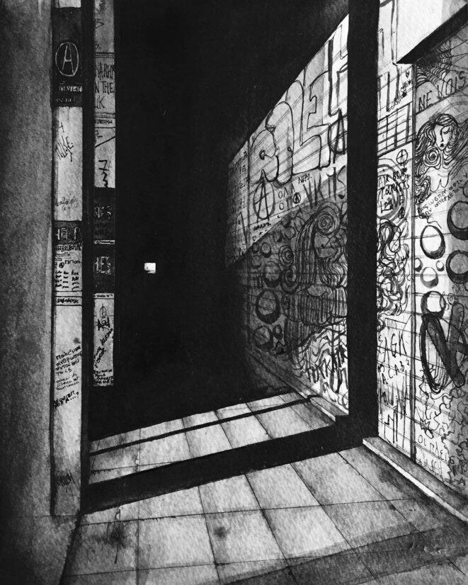 Il existe des milliers d'inscriptions sur les murs d'Exarcheia, offrant un caractère unique au quartier alternatif. © Elisa Perrigueur