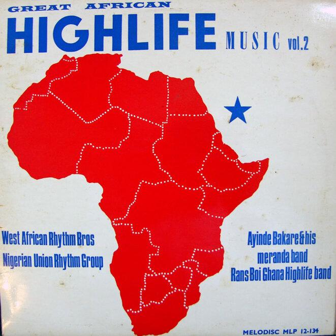 Pochette d'un disque de high-life