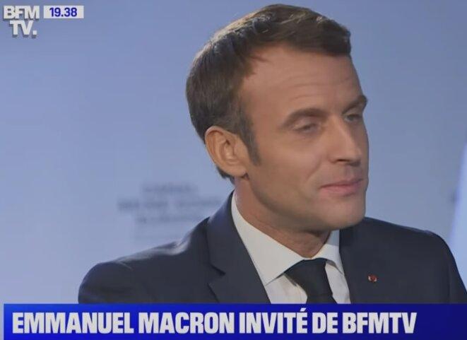 Il est heureux Macron...