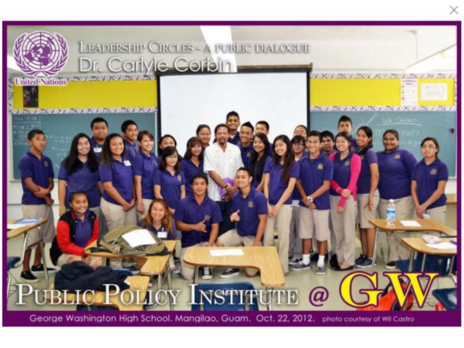Intitut des Politique Publiques de Guam. Dr Carlyle Corbin & Students.