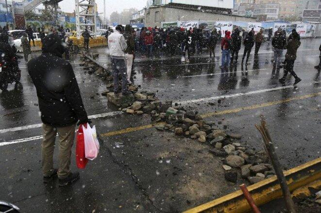 16 Novembre Protestation à Téhéran © Majid Khahi/ISNA via AP