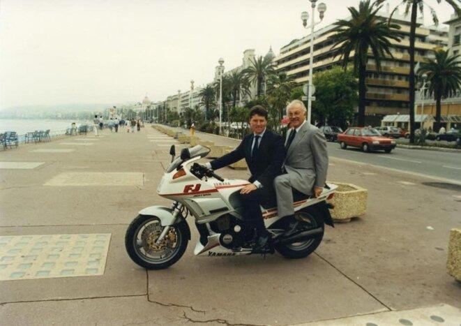 Christian Estrosi et Jacques Médecin, en 1988. © DR