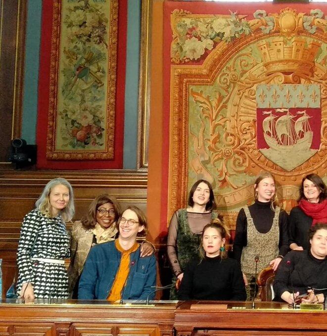 Photo famille - Paris, les participants de la 5e édition du PARLEMENT ÉPHÉMÈRE - VISIBLE AWARD 2019