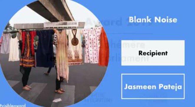 """Paris, 5e édition du PARLEMENT ÉPHÉMÈRE - """"VISIBLE AWARD 2019"""" - Lauréate : Jasmeen Patheja, projet""""Blank Noise"""""""""""
