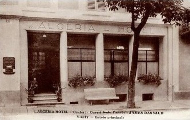 Carte postale ancienne du n°24 (ex-n°22) boulevard Carnot, à Vichy. © DR