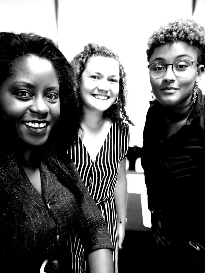 Journée nationale «Les Sciences de l'Ingénieur au Féminin» Speakers Dr.h.c Audrey POMIER FLOBINUS, Mme Zoé BERTHIER et Mme Sandora SALOMON © Humanity For The World (HFTW)