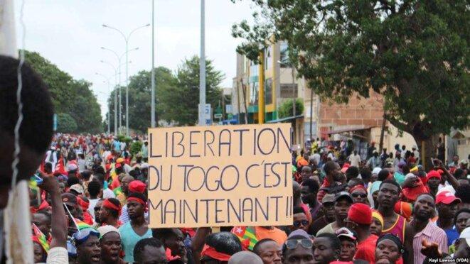 Manifestation à Lomé, La liberation du Togo c'est maintenant