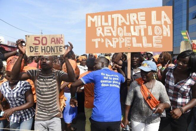 Manifestation a Lome, 21 septembre 2017, 1967-2017 50 ans de honte, militaire la revolution t'appelle !