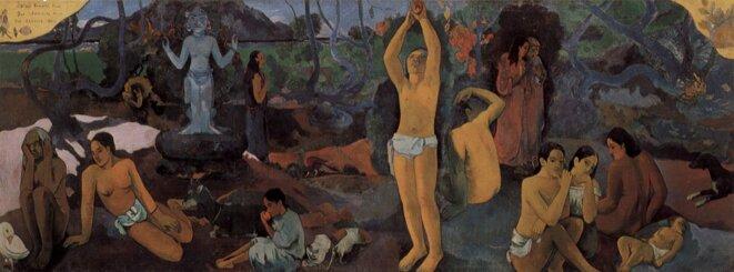 « D'où venons-nous ? Que sommes-nous ? Où allons-nous ?» (1897-1898), toile peinte par Gauguin à Tahiti et conservée au Musée des beaux-arts de Boston.