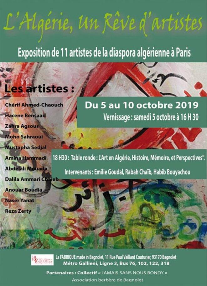 """Exposition """"L'Algérie, un Rêve d'artistes"""" © Nadia Agsous"""