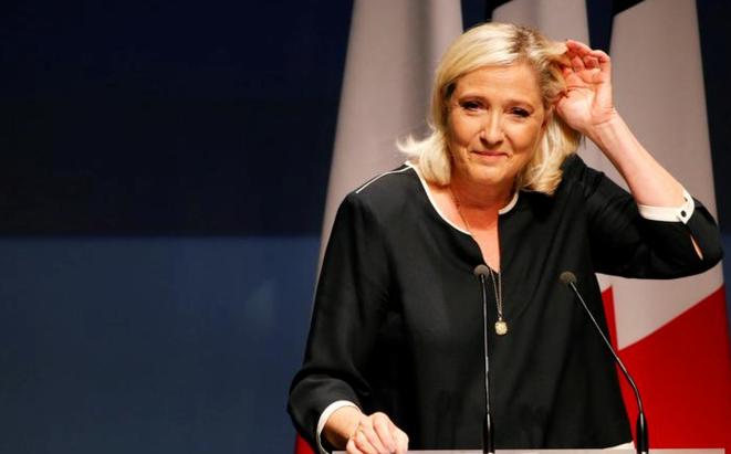 La présidente du RN Marine Le Pen. © Reuters