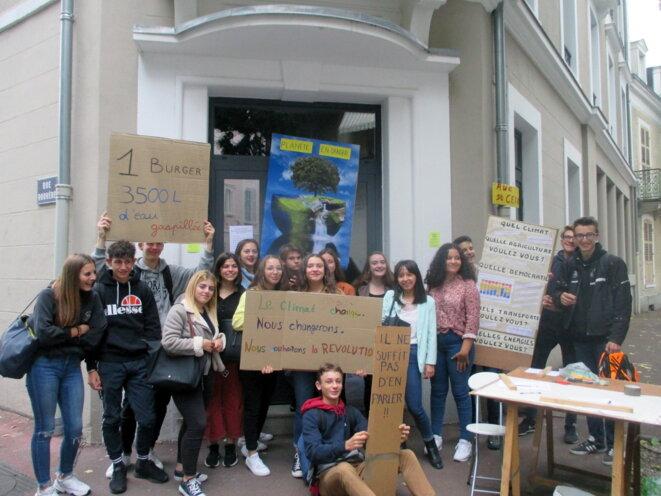 Précédent rassemblement lycéen à Vichy le 27 septembre 2019
