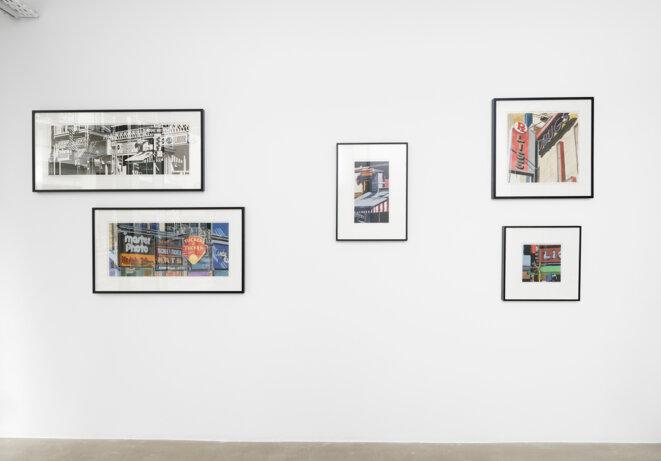"Vue de l'exposition ""Robert Cottingham. Fictions in the space betweenn"", Galerie Georges-Philippe & Nathalie Vallois, Paris 2019. © Robert Cottingham"