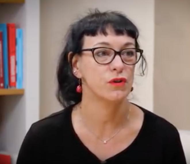 Corinne Morel Darleux, dans le studio de Mediapart